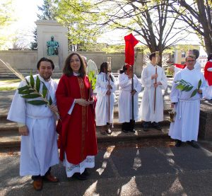 Blessing of the palms (2017) in Meridian Hill Park