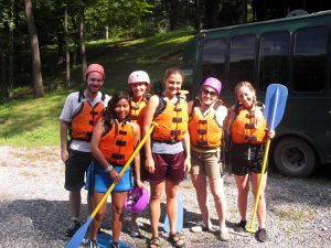 Augustana's Young Adults on a white-water rafting trip